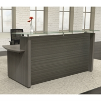 "Sterling 72"" Reception Desk in Textured Driftwood"