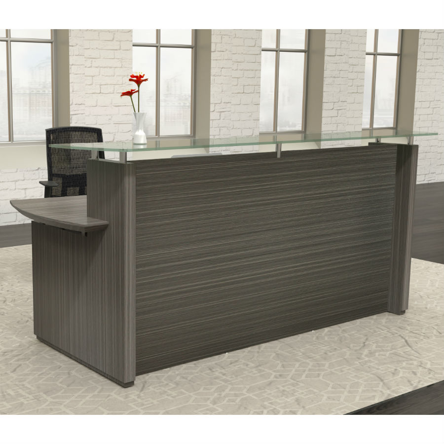 Mayline Sterling 96 Reception Desk In Textured Driftwood