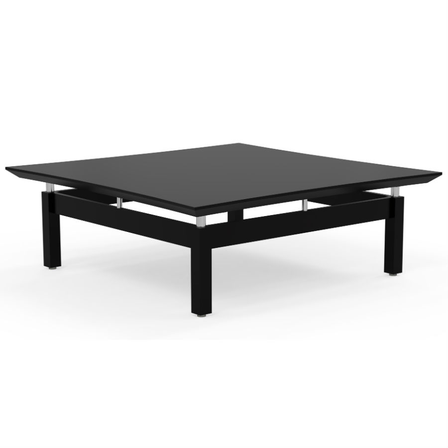 Mayline Sterling 48 Square Coffee Table In Textured Mocha Laminate Stcttdc