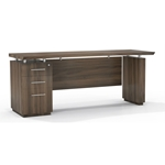 "Sterling 66"" Single Pedestal Credenza in Textured Brown Sugar"