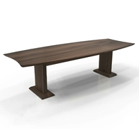 Sterling 8 Rectangle Conference Table in Textured Brown Sugar Laminate