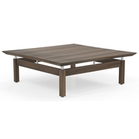 Sterling Square Coffee Table in Textured Brown Sugar