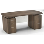 "Sterling 72""W Double Pedestal Desk in Textured Brown Sugar"
