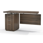 Sterling Desk Return in Textured Brown Sugar