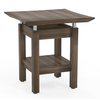 Sterling Square End Table in Textured Brown Sugar