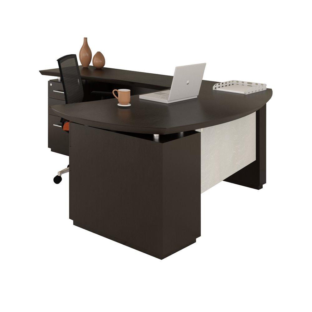 Sterling 72 L Shaped Left Handed Desk In Textured Mocha