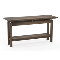 Sterling Rectangle Sofa Table in Textured Brown Sugar