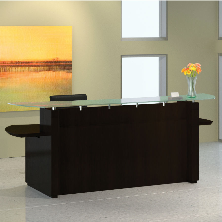 Mayline Sterling 96 Reception Desk In Mocha
