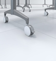 Premium White Casters for Cohere Tables