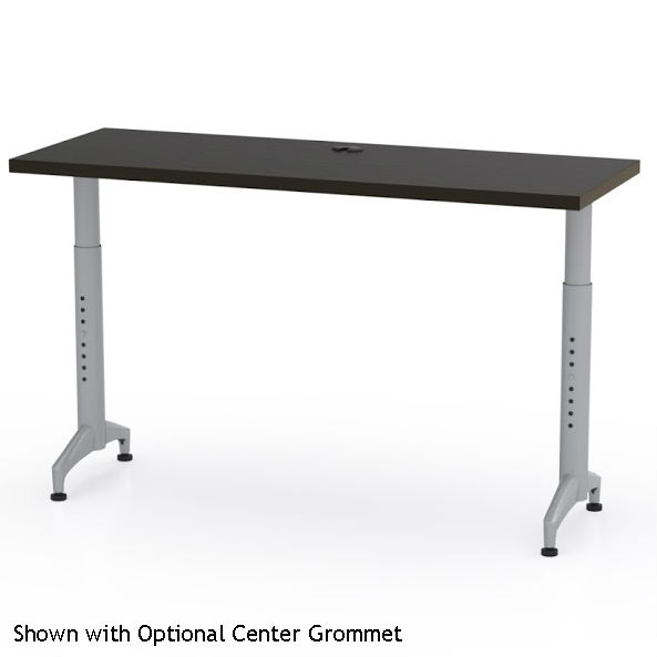 Mayline X Cohere Adjustable Height Training Table PR - 18 x 60 training table