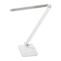 "Vamp LED Desk Lamp Lamp with USB; Light with USB; USB lamp; USB light; Lamp; Desktop lamps; Lighting; LED Lighting; White lamp; White esktop lamps; White Lighting; White LED Lighting; 4""W x 17 1/2""D x 15""H Lamp; 4""W x 17 1/2""D x 15""H Desktop lamps; 4""W x 17 1/2""D x 15""H Lighting"