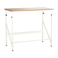 Elevate Standing-Height Desk desk; office desk; office; office furniture; home office; home office desk; standing height desk; standing desk; active office; height adjustable; height adjustable desk; footrest; built in footrest; personal workspace