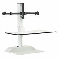 Soar Electric Sit/Stand Desktop – Dual Monitor Arm