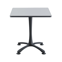 "Cha-Cha 30"" Square Table with X-Base Collaboration table; Conference table; Meeting table; Sitting height table; Round table; Short table; Table and base; Table with base; Break room table; Gathering table"