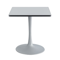 "Cha-Cha 30"" Square Table with Trumpet Base Collaboration table; Conference table; Meeting table; Sitting height table; Round table; Short table; Table and base; Table with base; Break room table; Gathering table"