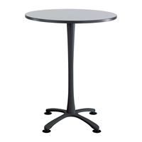 "36"" Round Cha-Cha Bistro Table Collaboration table; Conference table; Meeting table; Bistro height table; Round table; Tall table; Table and base; Table with base; Break room table; Gathering table; Standing table; Stand up table; Standup table"