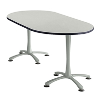 "72"" x 36"" Cha-Cha Oval Meeting Table Collaboration table; Conference table; Meeting table; Bistro height table; Round table; Tall table; Table and base; Table with base; Break room table; Gathering table; Standing table; Stand up table; Standup table"