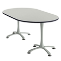 "72"" x 42"" Cha-Cha Oval Meeting Table"