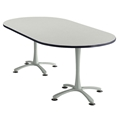 "84"" x 42"" Cha-Cha Oval Meeting Table"