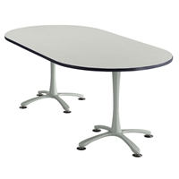 "84"" x 42"" Cha-Cha Oval Meeting Table Collaboration table; Conference table; Meeting table; Bistro height table; Round table; Tall table; Table and base; Table with base; Break room table; Gathering table; Standing table; Stand up table; Standup table"
