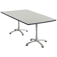 "84"" x 42"" Cha-Cha Rectangular Meeting Table Collaboration table; Conference table; Meeting table; Bistro height table; Round table; Tall table; Table and base; Table with base; Break room table; Gathering table; Standing table; Stand up table; Standup table"
