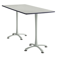 "72"" x 36"" Cha-Cha Standing-Height Rectangular Team Table Collaboration table; Conference table; Meeting table; Bistro height table; Round table; Tall table; Table and base; Table with base; Break room table; Gathering table; Standing table; Stand up table; Standup table"