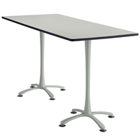 "84"" x 36"" Cha-Cha Standing-Height Rectangular Team Table Collaboration table; Conference table; Meeting table; Bistro height table; Round table; Tall table; Table and base; Table with base; Break room table; Gathering table; Standing table; Stand up table; Standup table"