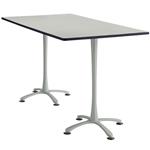 "72"" x 42"" Cha-Cha Standing-Height Rectangular Team Table Collaboration table; Conference table; Meeting table; Bistro height table; Round table; Tall table; Table and base; Table with base; Break room table; Gathering table; Standing table; Stand up table; Standup table"