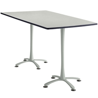"84"" x 42"" Cha-Cha Standing-Height Rectangular Team Table Collaboration table; Conference table; Meeting table; Bistro height table; Round table; Tall table; Table and base; Table with base; Break room table; Gathering table; Standing table; Stand up table; Standup table"