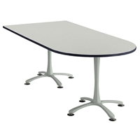 "72"" x 36"" Cha-Cha Peninsula Table Collaboration table; Conference table; Meeting table; Bistro height table; Round table; Tall table; Table and base; Table with base; Break room table; Gathering table; Standing table; Stand up table; Standup table"