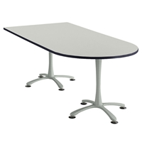 "84"" x 36"" Cha-Cha Peninsula Table Collaboration table; Conference table; Meeting table; Bistro height table; Round table; Tall table; Table and base; Table with base; Break room table; Gathering table; Standing table; Stand up table; Standup table"