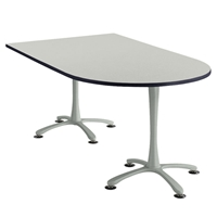 "72"" x 42"" Cha-Cha Peninsula Table Collaboration table; Conference table; Meeting table; Bistro height table; Round table; Tall table; Table and base; Table with base; Break room table; Gathering table; Standing table; Stand up table; Standup table"