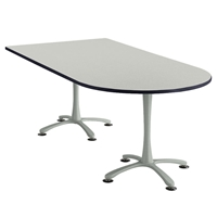 "84"" x 42"" Cha-Cha Peninsula Table Collaboration table; Conference table; Meeting table; Bistro height table; Round table; Tall table; Table and base; Table with base; Break room table; Gathering table; Standing table; Stand up table; Standup table"