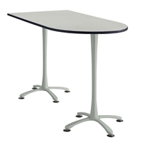"72"" x 36"" Cha-Cha Standing-Height Peninsula Table Collaboration table; Conference table; Meeting table; Bistro height table; Round table; Tall table; Table and base; Table with base; Break room table; Gathering table; Standing table; Stand up table; Standup table"
