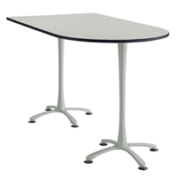 "72"" x 42"" Cha-Cha Standing-Height Peninsula Table Collaboration table; Conference table; Meeting table; Bistro height table; Round table; Tall table; Table and base; Table with base; Break room table; Gathering table; Standing table; Stand up table; Standup table"