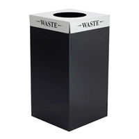 Square-Fecta 25 Gallon Recycling/Waste Receptacle Recycling receptacles; recycling collection cans; Trash can; Garbage can; Recycling can; Trash cans; Waste can; Waste basket; Wasbasket; Recycling center; Recycling bins; Trash bins; Recycling center bins; Recyling center; Trash collection; Trash collection bins; Trash collection center; Break room recycling; Breakroom recycling; Office recycling
