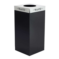 Square-Fecta 31 Gallon Recycling/Waste Receptacle Recycling receptacles; recycling collection cans; Trash can; Garbage can; Recycling can; Trash cans; Waste can; Waste basket; Wasbasket; Recycling center; Recycling bins; Trash bins; Recycling center bins; Recyling center; Trash collection; Trash collection bins; Trash collection center; Break room recycling; Breakroom recycling; Office recycling