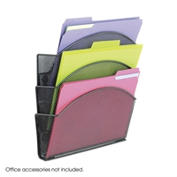 Onyx Mesh Magnetic Triple File Pocket