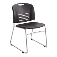 Vy Sled Base Chairs; Stacking chairs; Plastic chairs; Big and tall chairs; Auditorium chairs; Stackable seating; Big and tall seating; Black chairs; Black stackable chairs; Mobile seating; Mobile chairs; Classroom chairs; Training room chairs; Training room seating