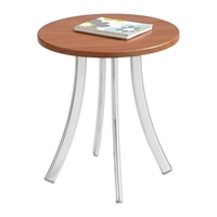 Decori Short Wood Side Table Table; Side table; Accent table; Office furniture; Sofa table; Receptipn room table; Waiting room table; Table used as a seat; Use table as seat; Cherry table; Cherry side table; Cherry accent table; Cherry office furniture
