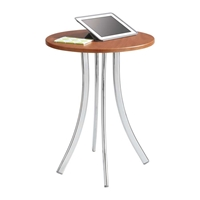 Decori Tall Wood Side Table Table; Side table; Accent table; Office furniture; Sofa table; Receptipn room table; Waiting room table; Work table; Small work table; Cherry table; Cherry side table; Cherry accent table; Cherry office furniture