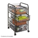 Onyx Mesh File Cart with 4 Drawers - 5214BL