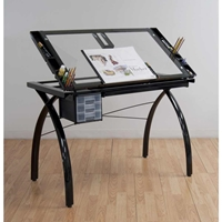 Futura Drafting and Craft Table in Black Drafting Furniture, Drafting Tables and Drawing Boards, Craft and Hobby Tables, drawing table