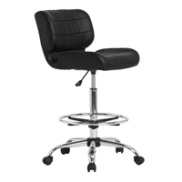 Black Crest Drafting Chair