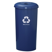 Tall Round Can Collector Recycling Receptacle