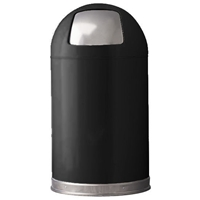 12 Gallon Push Dome Top Waste Receptacle