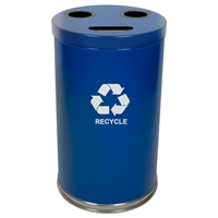 Metal Recycling Container - 34.5 Gallon