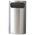 Half-Round Stainless Steel Waste Receptacle