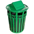 Oakley Swing Top 40 Gallon Decorative Waste Receptacle