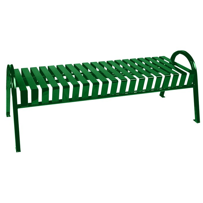 Oakley 60 W Backless Bench With Curved Arms